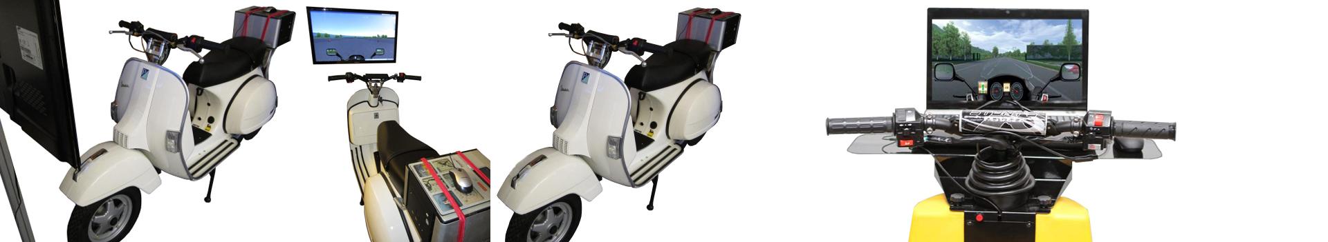 MOTORROLLER SIMULATOR VESPA - Für Nostalgie-Liebhaber kann auch eine Original Vespa oder ein anderes Fahrzeug zum Simulator umgebaut werden.